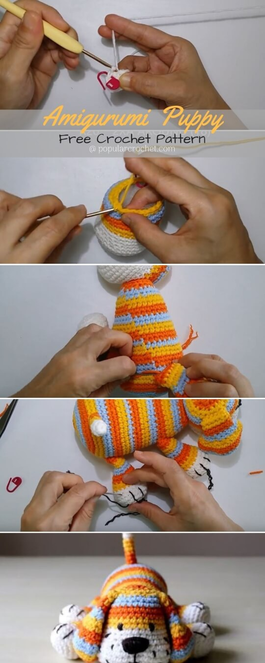 Baby Knitting Patterns A free Amigurumi Dog pattern that shows you ... | 1350x540
