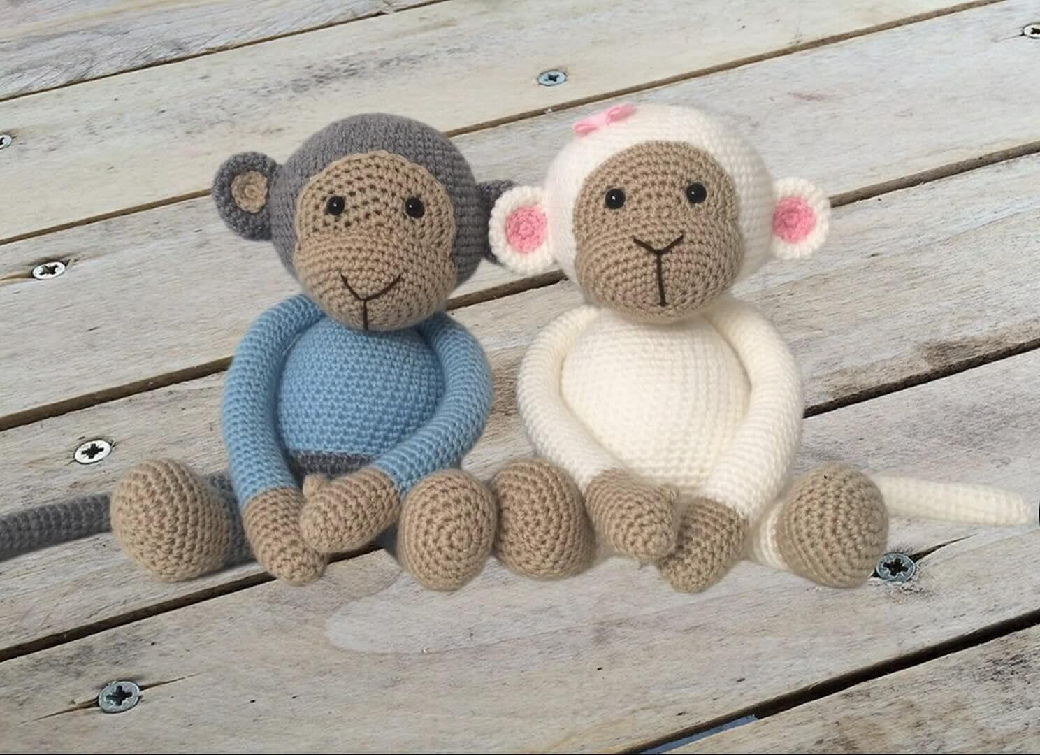 Mimi the Monkey Free Amigurumi Pattern | Jess Huff | 1080x1488