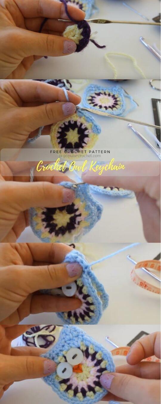 Owl Keychain Crochet