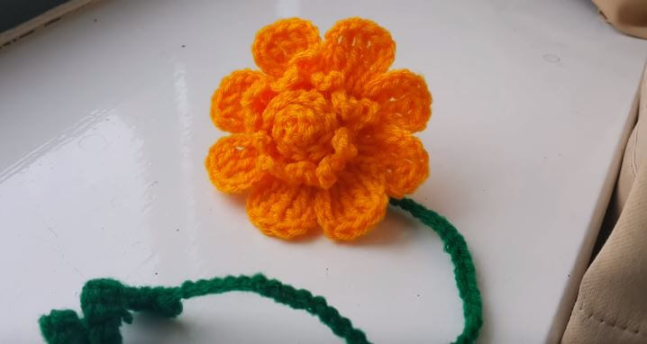 Flower Bookmark Crochet