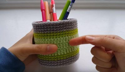 Crochet Pen Holder