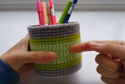Crochet Pen Holder