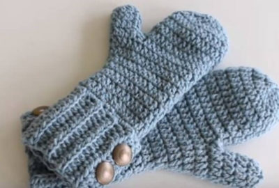 Crochet Winter Mittens 8