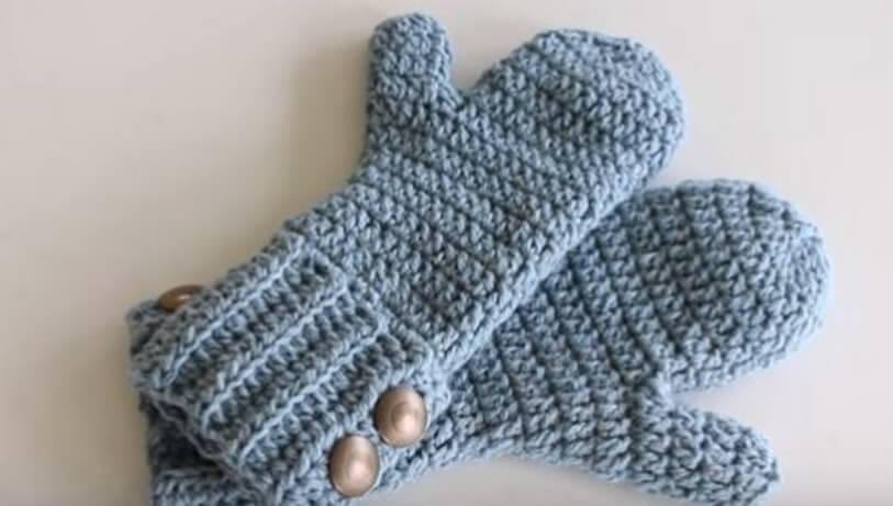 Crochet Winter Mittens 4