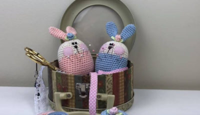 bunny pin cushion crochet