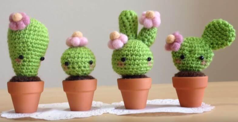 Cute Cactus Amigurumi Crochet
