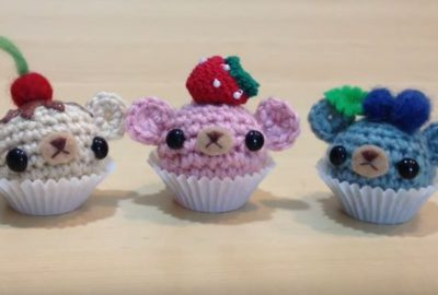 Adorable Crochet Cupcake Bears