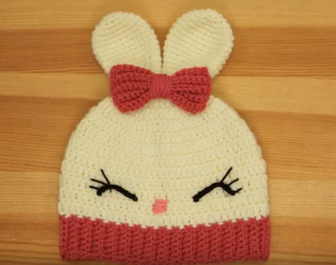 Crochet Baby girl hat 2