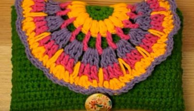 Colorful Crochet Wallet 1