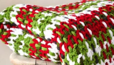 Crochet Plaid Woven Afghan 1
