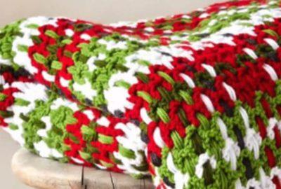 Crochet Plaid Woven Afghan 2