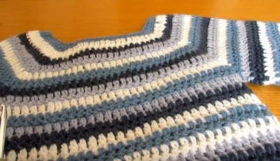 Basic Crochet Striped Jumper 1