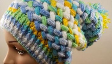 Crochet Puff Braid Ice Cap 5