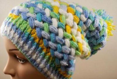 Crochet Puff Braid Ice Cap 4