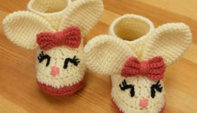 Crochet Winter Baby Booties 4