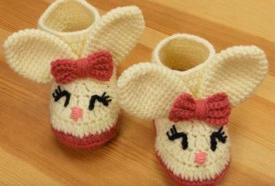 Crochet Winter Baby Booties 7