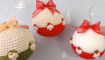 Crochet Christmas Ornament balls 1