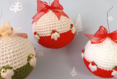 Crochet Christmas Ornament balls 4