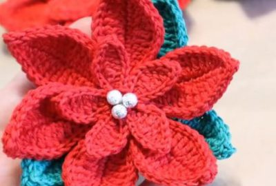 Crochet Christmas Poinsettia 3