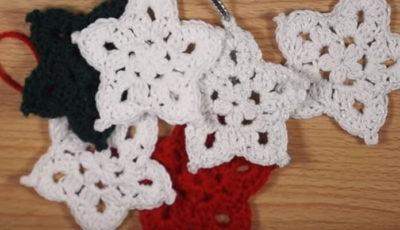 Crochet Star Ornament 4