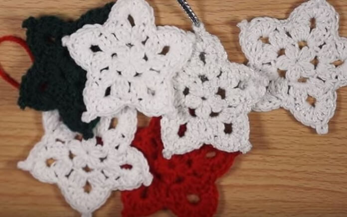 Crochet Star Ornament 25