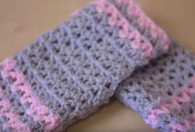Crochet Wrist Warmers 6