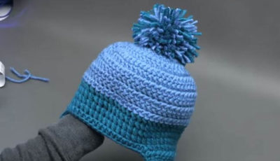 Winter Winds Ski Crochet Beanie 4