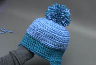 Winter Winds Ski Crochet Beanie 2