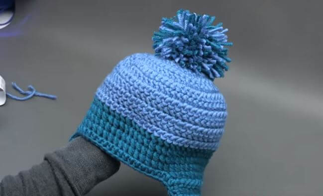 Winter Winds Ski Crochet Beanie 3