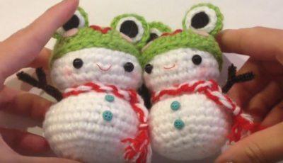 Christmas Ornament Snowman Amigurumi Crochet