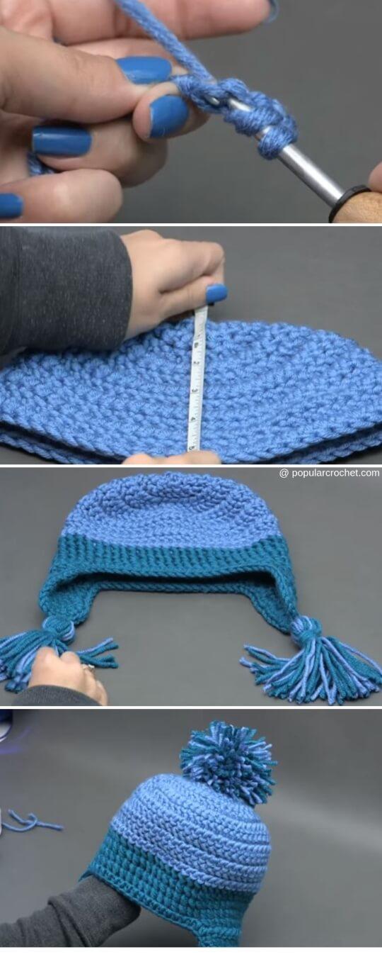 Winter Winds Ski Crochet Beanie
