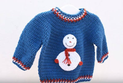 Crochet winter sweater 1
