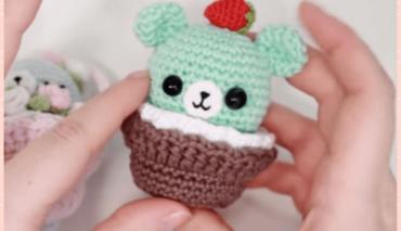 Crochet basket for Amigurumis 3