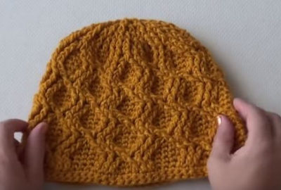 Crochet beanie with cable stitch 4