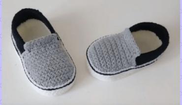 Vans Style Baby Crochet shoes 8