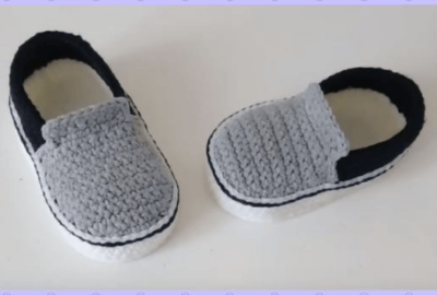 Vans Style Baby Crochet shoes 4