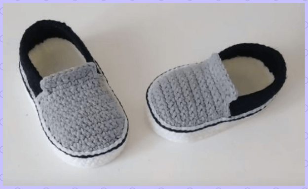 Vans Style Baby Crochet shoes 1