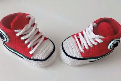 Vans Style Baby Crochet shoes 6