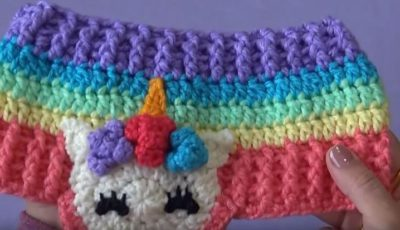 Colorful Crochet headband 2