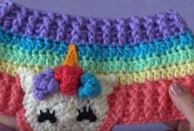 Colorful Crochet headband 3