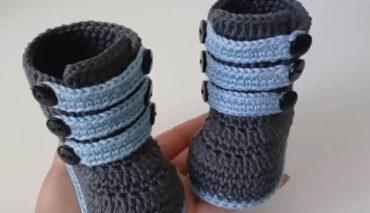 High-cut Crochet Booties 10