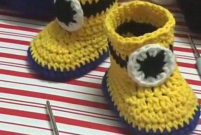Minion Crochet Bootie 1