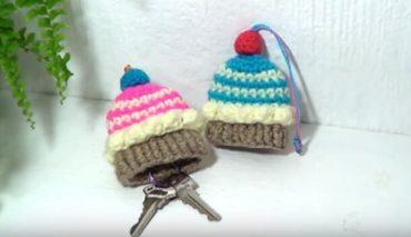 Cupcake Crochet keycover 4