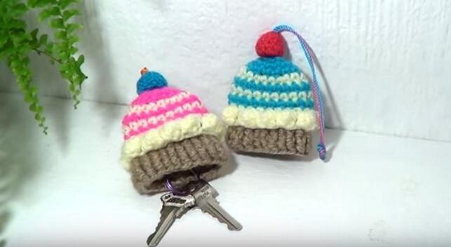 Cupcake Crochet keycover 17