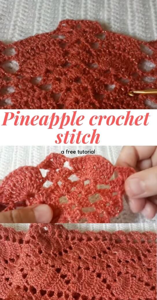 Pineapple crochet scarf popularcrochet.com #crochet #scarf #pineapplescarf