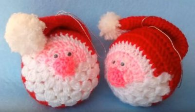 Santa Crochet Ornament 3