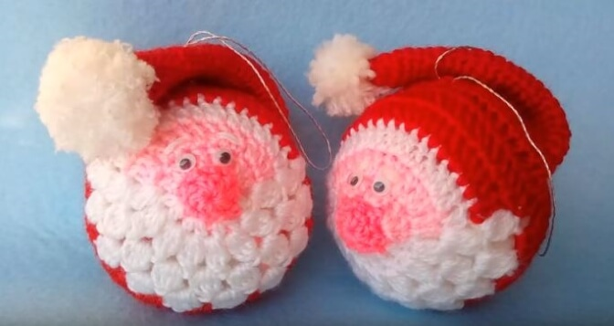 Santa Crochet Ornament 4