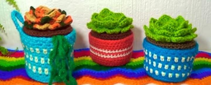 Succulents Crochet plant 32