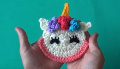 Unicorn Crochet Applique 4