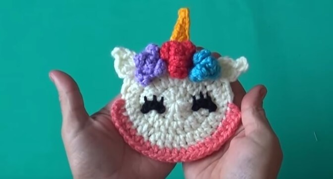Unicorn Crochet Applique 9